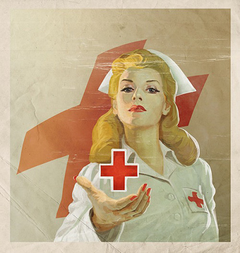 Vintage Red Cross