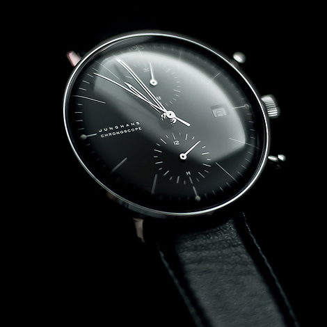 Junghans Max Bill Chronoscope in black