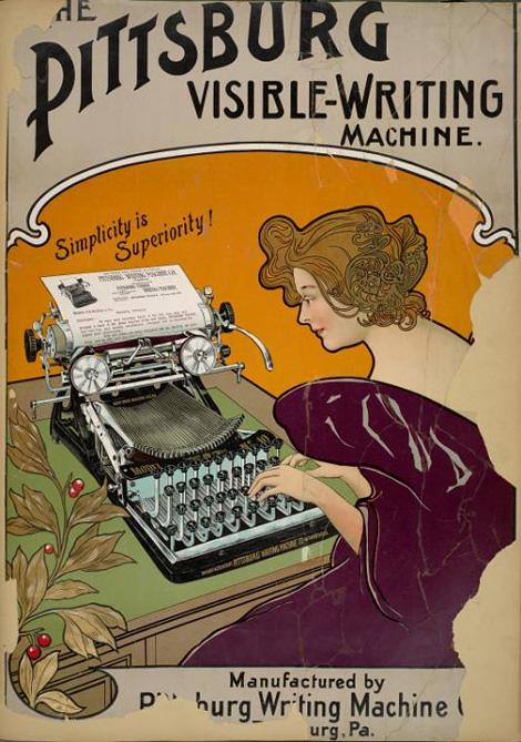 Pittsburg visible writing machine