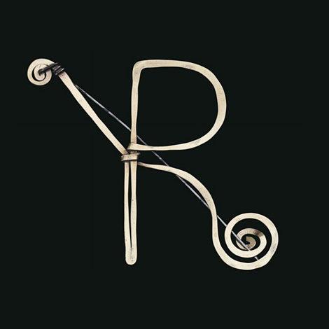Alexander Calder initial R brooch