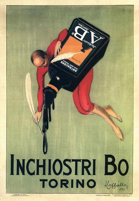 Vintage Italian ink posters