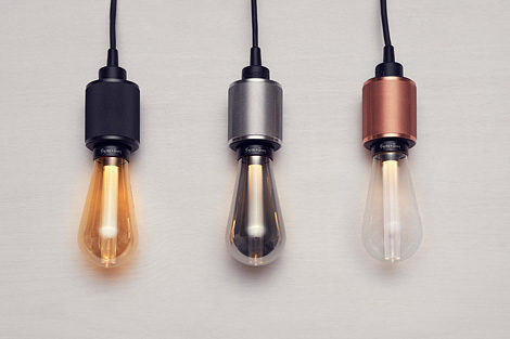 LED Buster Bulb + Heavy Metal Pendant