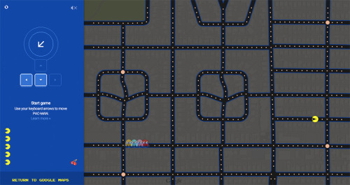Pac Man x Google Maps