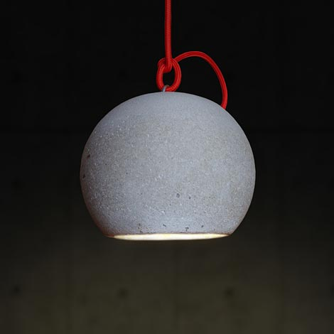 Concrete Ball LED hanging lamp