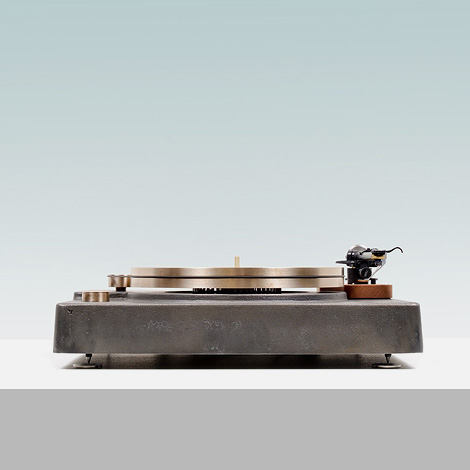 Cast iron & bronze turntable