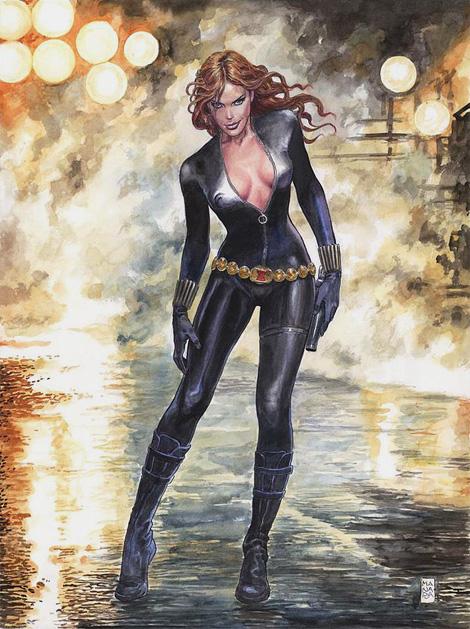 Black Widow x Milo Manara