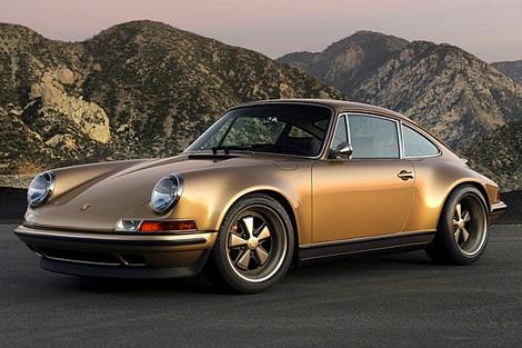Gold custom Porsche 911