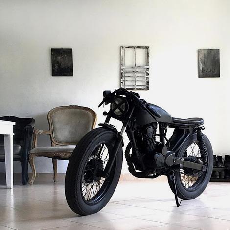 All black cafe racer