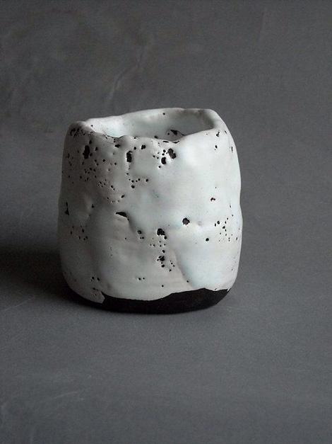 Raku tea bowl