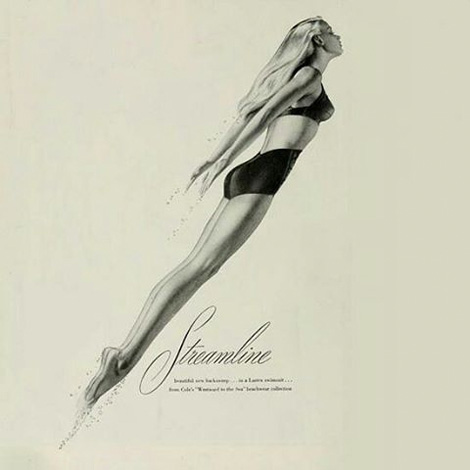 Streamline swimwear ad