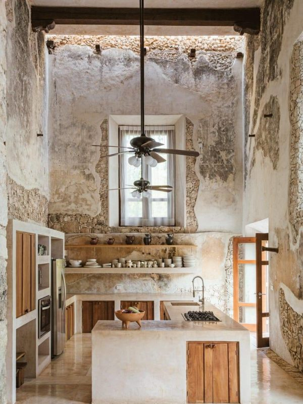 Rustic lux kitchen
