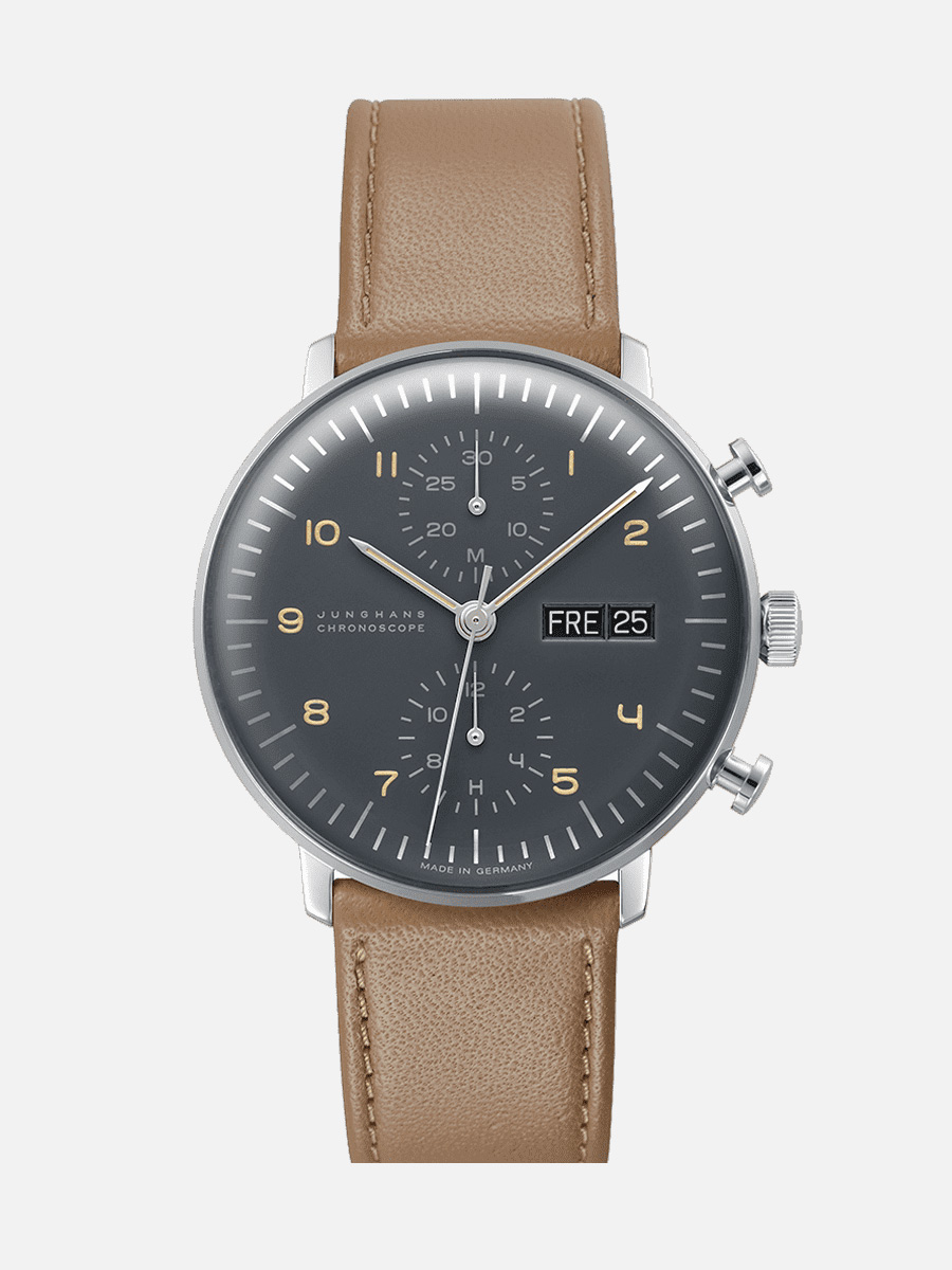Junghans Max Bill Chronoscope in grey
