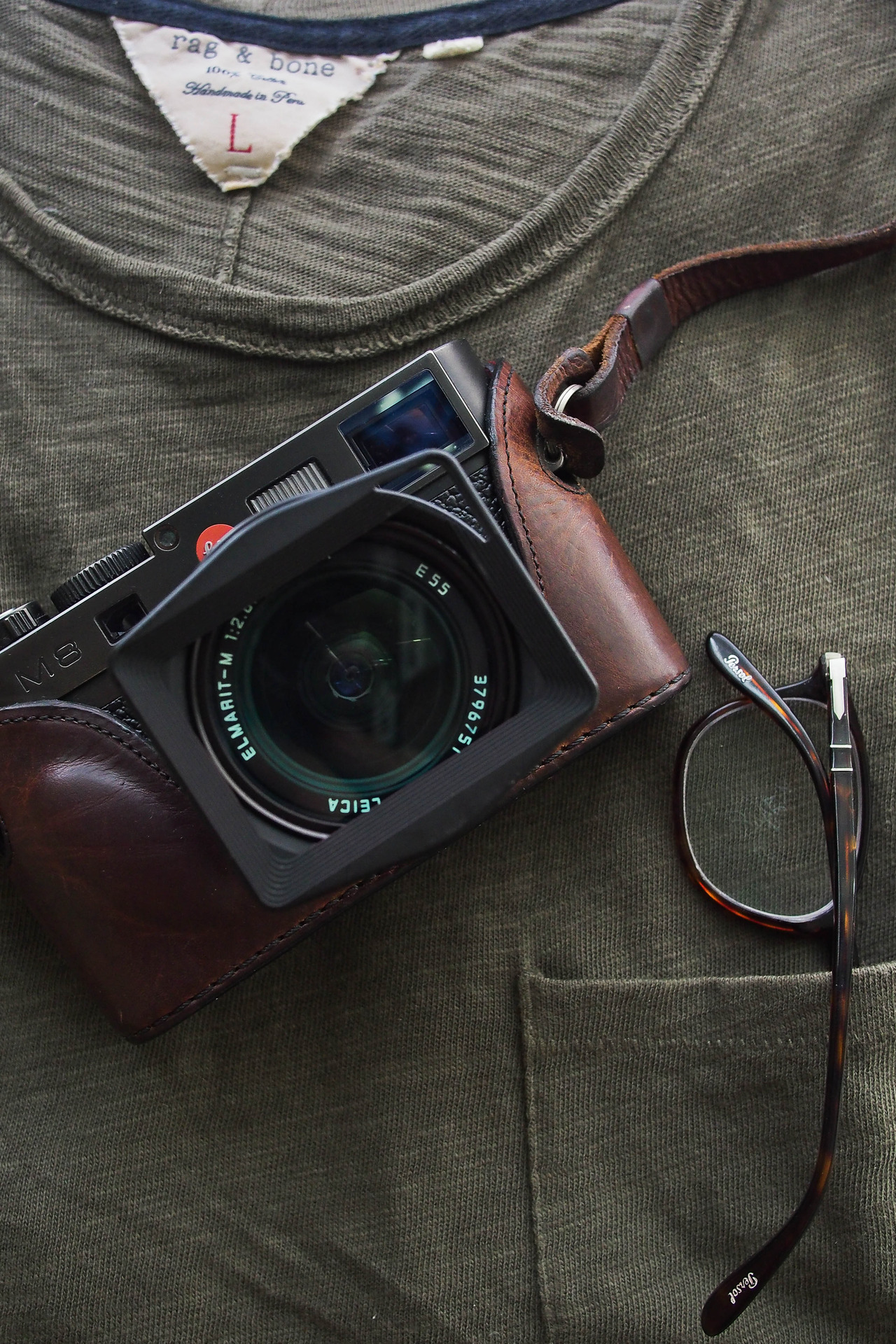 Leica in leather