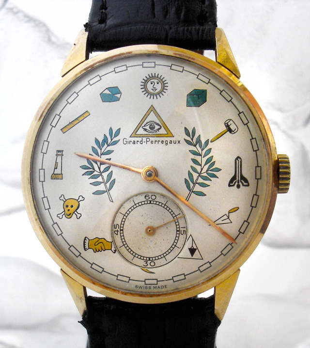 Gerrard Perregaux masonic watch