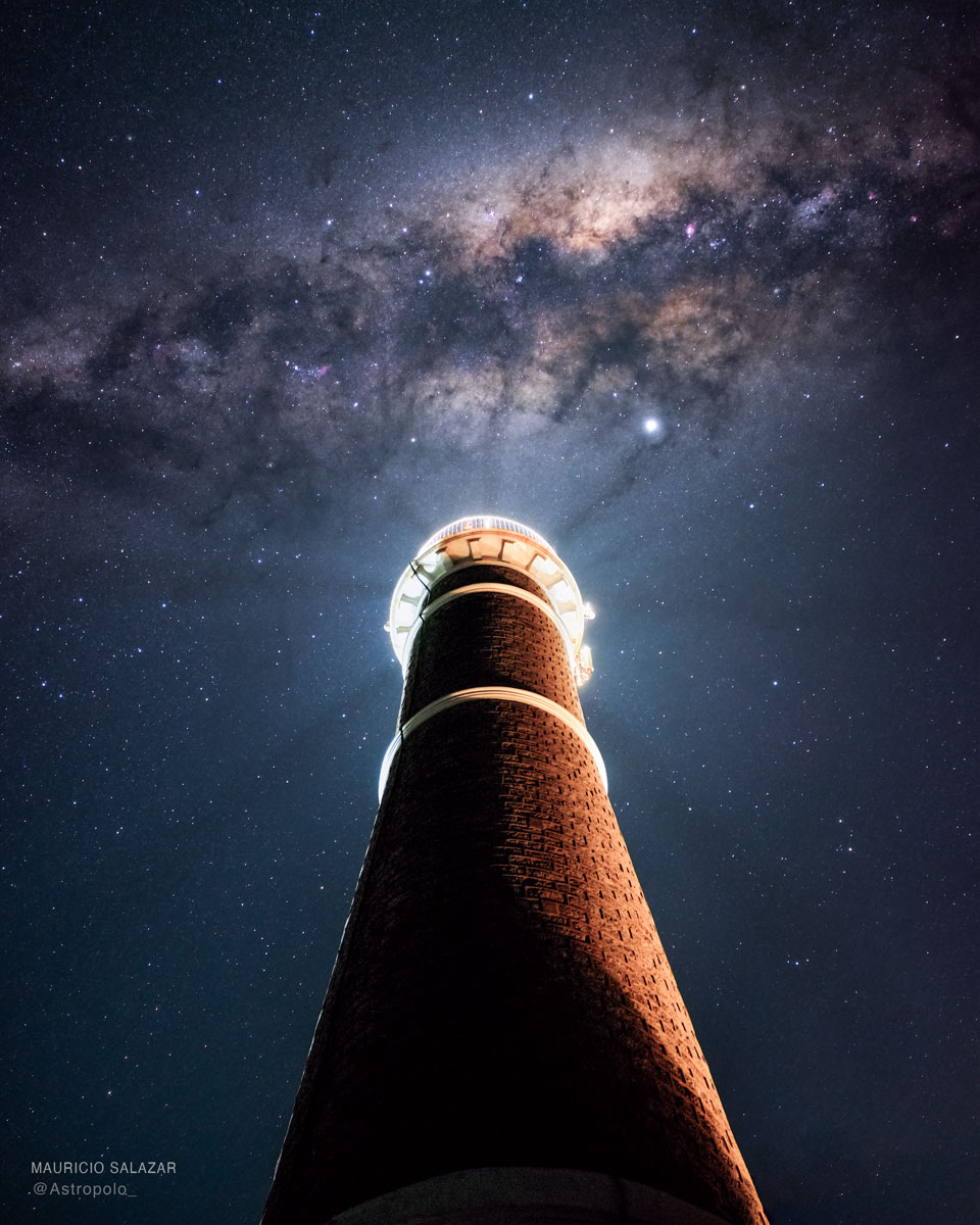 Milky Way over Uruguayan Lighthouse