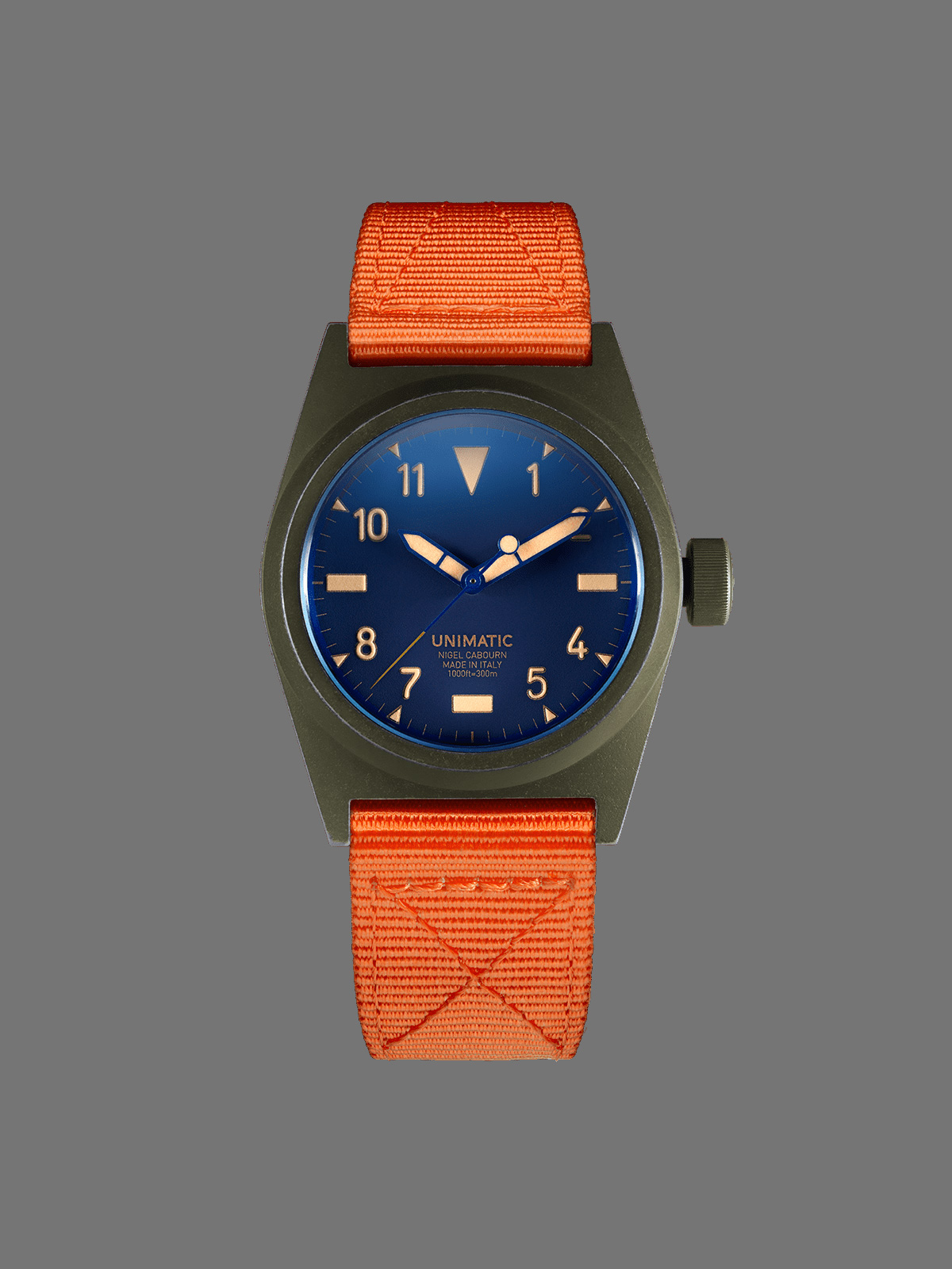 Unimatic x Nigel Cabourn U2-NC wrist watch