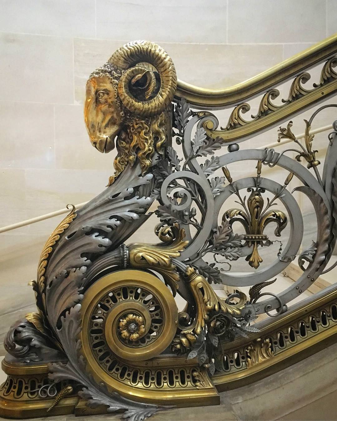 Chateau de Chantilly staircase