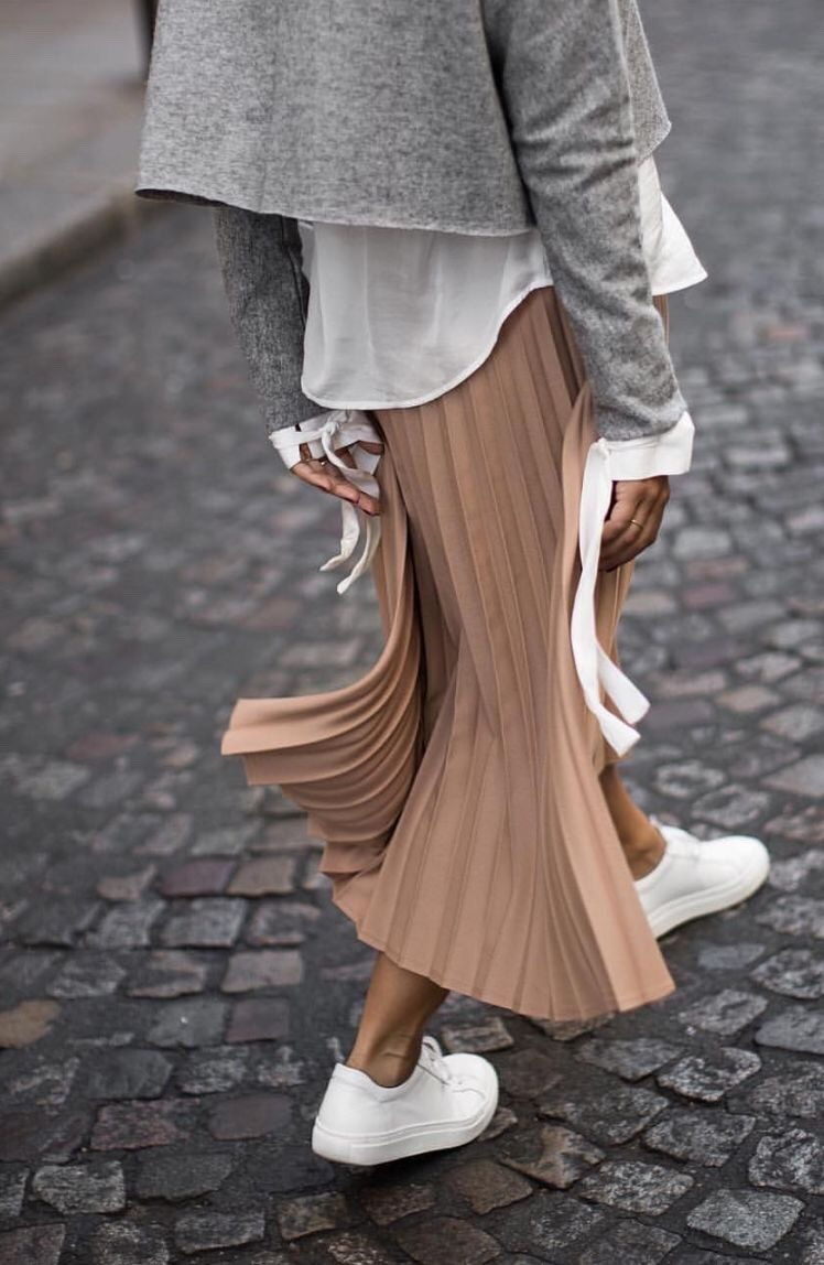 Grey, Camel and White