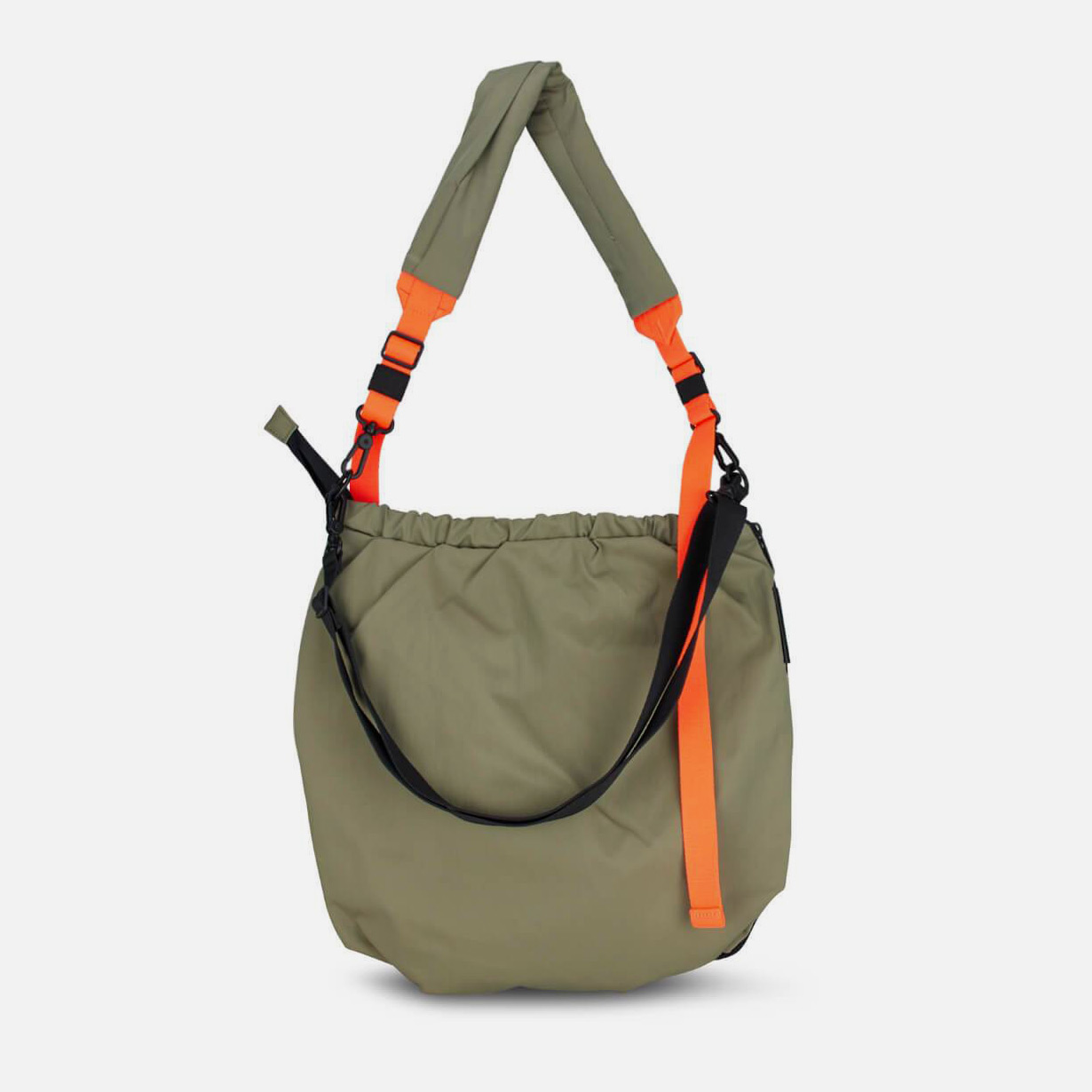 côte&ciel Orco smooth khaki messenger bag