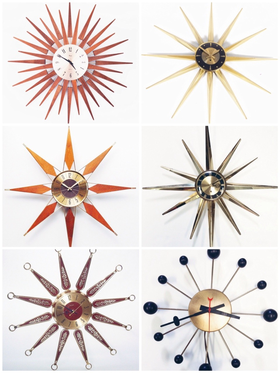 1960s-1970s Starburst Clocks