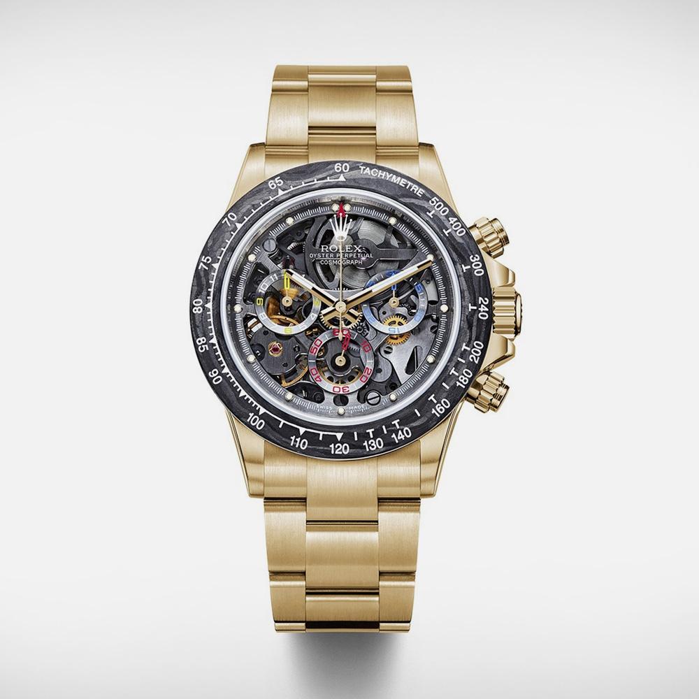 La Montoya Gold Skeleton Rolex Daytona Watch