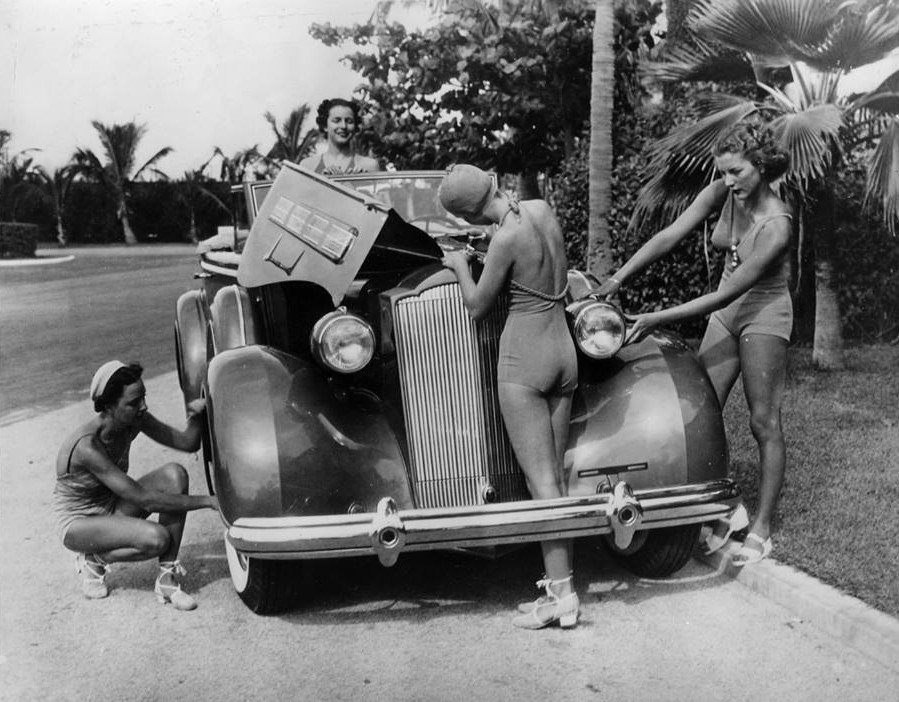 Vintage car maintenance