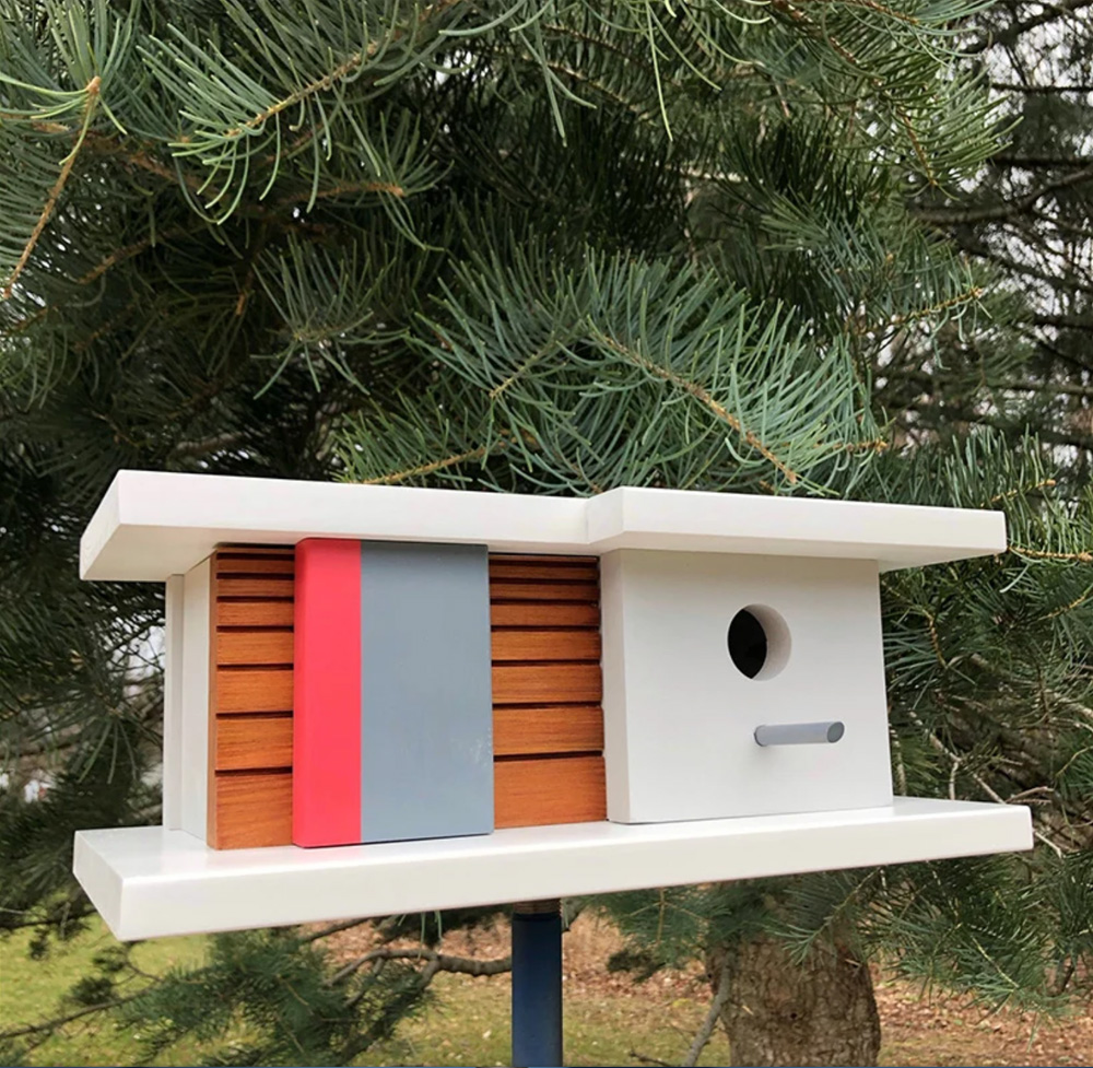 Modernist birdhouses