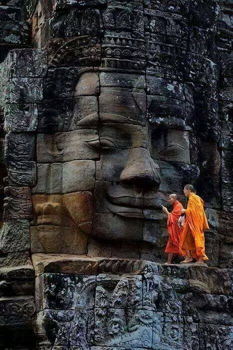 Bayon Temple Monks