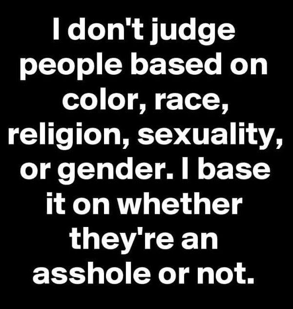 I don't judge