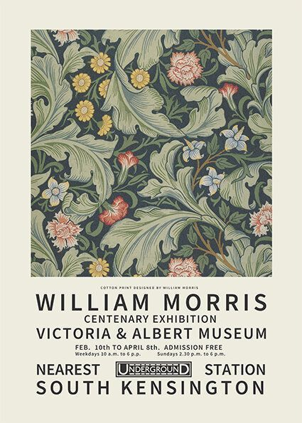 William Morris Centenary poster
