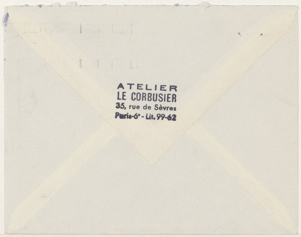 A letter from Le Corbusier