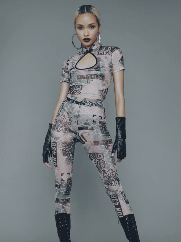Dolls Kill digital pants suit