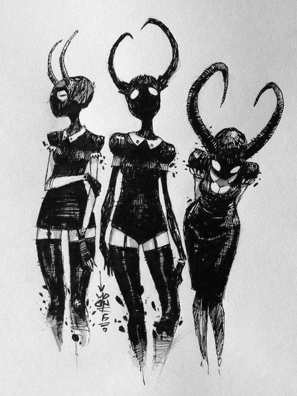 3 horned girls x moon_mxtr