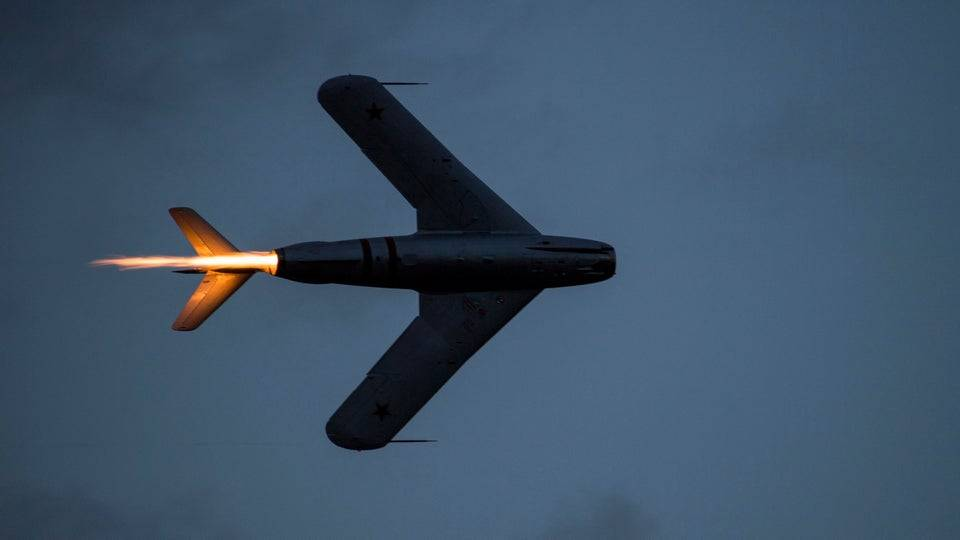 MiG-17 on afterburner