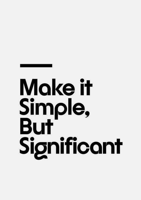 Simple but significant