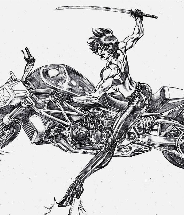 Moonshadow Biker Chick