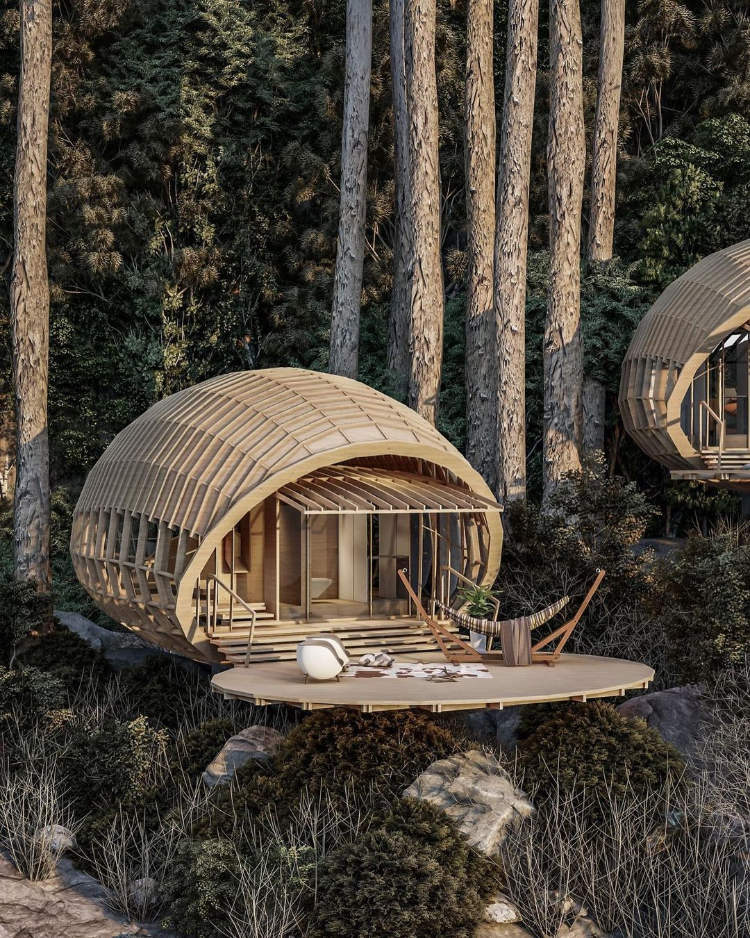 Cabins on the mountain