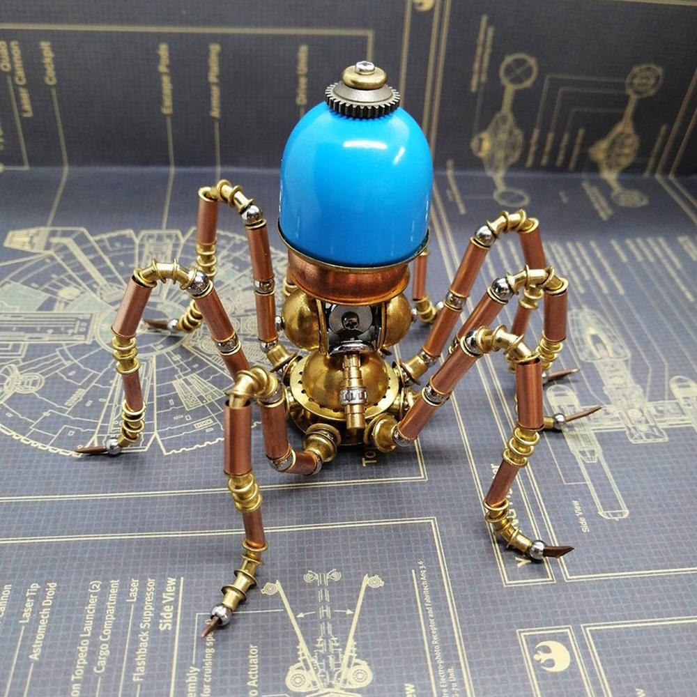 Steampunk Brass Mechanical Octopus