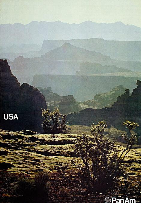 Pan Am Helvetica posters.