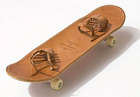 Leather Skateboard