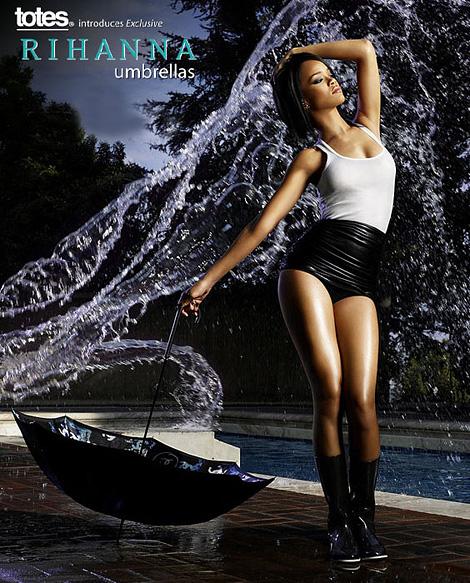 Rihanna umbrellas