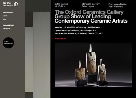 Oxford Ceramics Gallery exhibition site