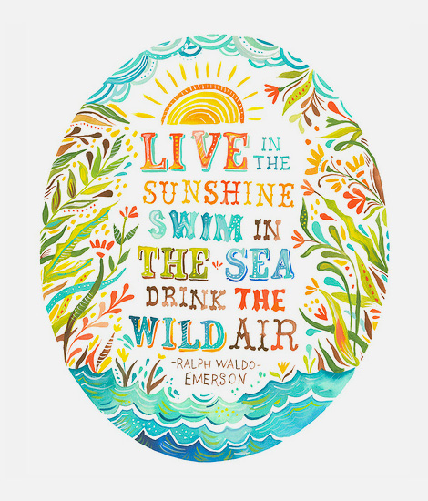 Live in the sunshine…