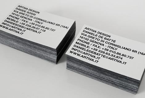 Artiva Design business card
